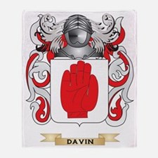 Davin Coat of Arms Throw Blanket
