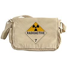 Radioactive Warning Sign Messenger Bag