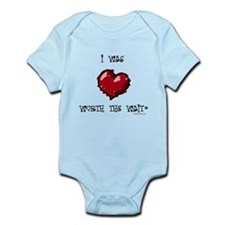 I was worth the wait heart Infant Bodysuit
