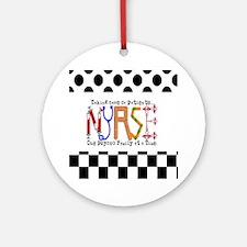 Nurse taking care PILLOW Round Ornament
