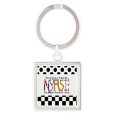 Nurse taking care PILLOW Square Keychain