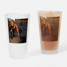 I Will Beat Her Drinking Glass