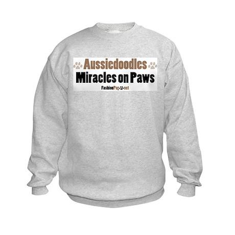 Aussiedoodle dog Kids Sweatshirt