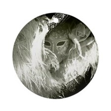 Venetian Mask Of Mystery Woman Round Ornament