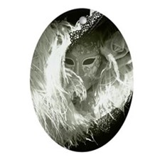 Venetian Mask Of Mystery Woman Oval Ornament