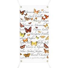 Orange Butterflies Poster Banner