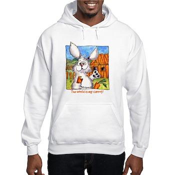 Funny Rabbit Art Hooded Sweatshirt