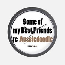 Aussiedoodle dog Wall Clock