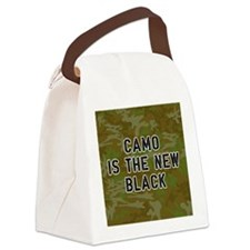 Camo Is The New Black Canvas Lunch Bag