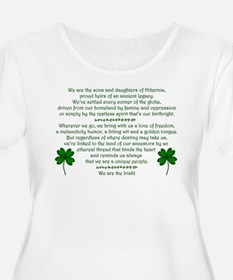 We Are The Irish Plus Size Scoop Neck T-Shirt