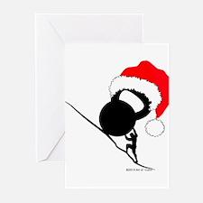 Sisyphus Kettlebell Christmas Greeting Cards