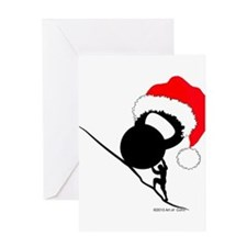 Sisyphus Kettlebell Christmas Greeting Cards