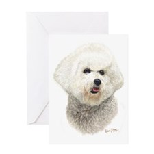 Bichon Frise Head 2 Greeting Card