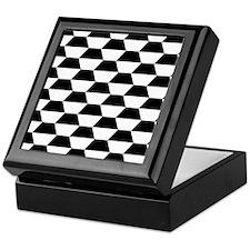 Black And White Geometric Pattern Keepsake Box