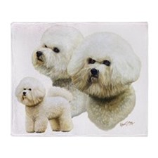 Bichon Frise Multi Throw Blanket