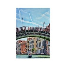 Motor Boat In Venice Italy Rectangle Magnet