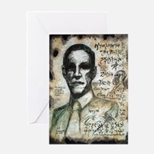 H.P. Lovecraft  Greeting Card