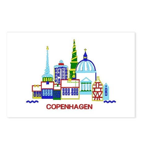 copenhagen Postcards (Package of 8)