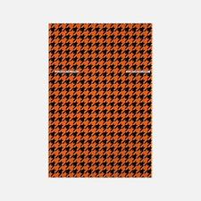 Houndstooth   Orange Rectangle Magnet