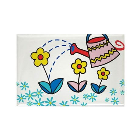 blooming flowers Rectangle Magnet (10 pack)
