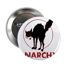 "Anarchy - black cat 2.25"" Button"