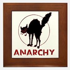 Anarchy - black cat Framed Tile