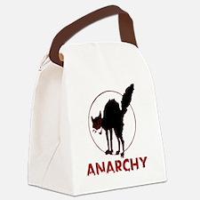 Anarchy - black cat Canvas Lunch Bag