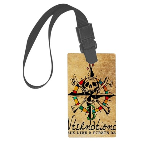 Big Mouth Old Style Map Large Luggage Tag