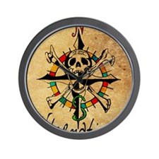 Big Mouth Old Style Map Wall Clock