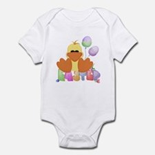 Easter Ducky with balloons Infant Bodysuit