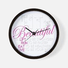 Fit Is Beautiful Wall Clock