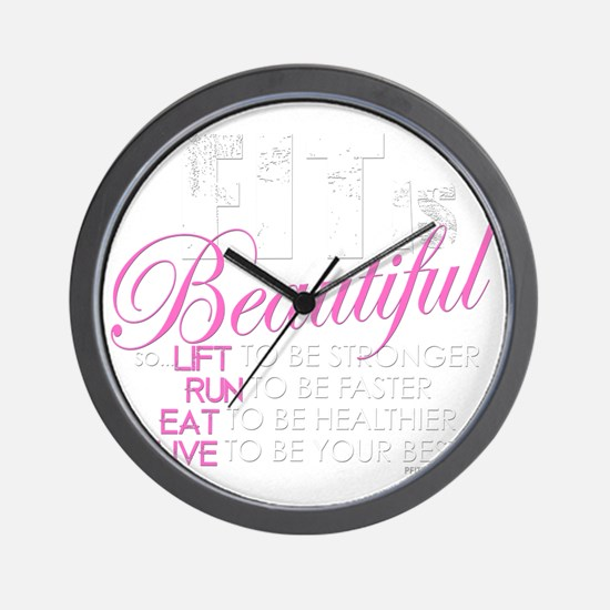 Fit Is Beautiful Wall Clock