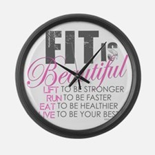Fit is Beautiful Large Wall Clock