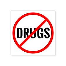 """No Drugs Square Sticker 3"""" x 3"""""""