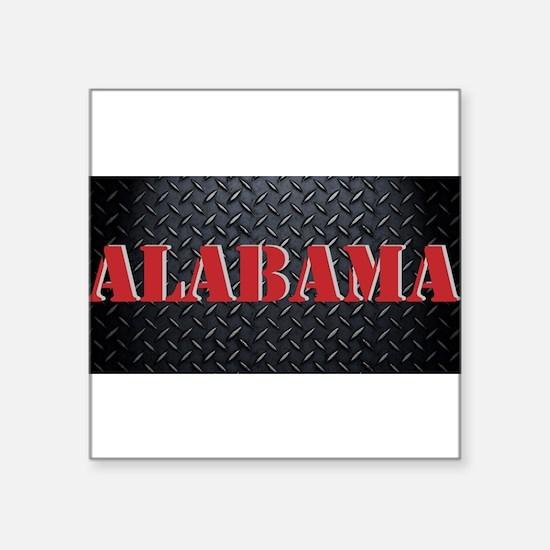 Alabama Diamond Plate Sticker