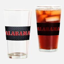 Alabama Diamond Plate Drinking Glass