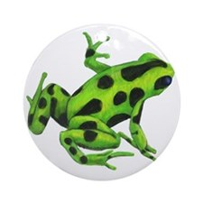 Green Dart Frog Round Ornament