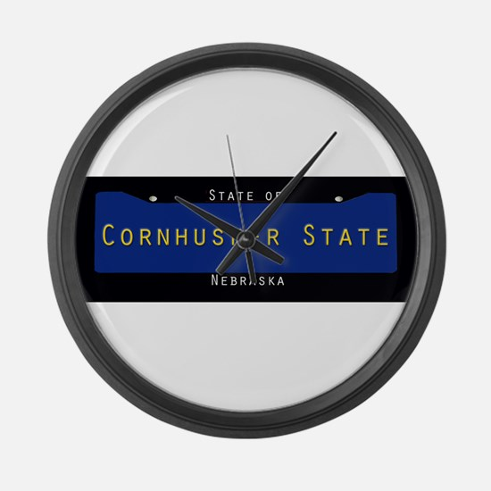 Nebraska Nickname #1 Large Wall Clock