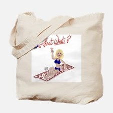 First What? - Blonde Tote Bag