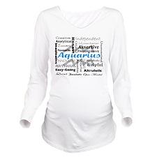 Aquarius Long Sleeve Maternity T-Shirt