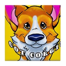 got corgi sable Tile Coaster