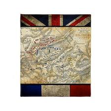 Battle of Waterloo Throw Blanket