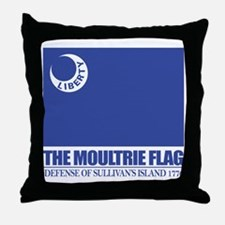 Moultrie Flag Throw Pillow