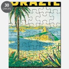 Brazil Travel Poster Puzzle