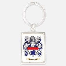 Delgado Coat of Arms Portrait Keychain