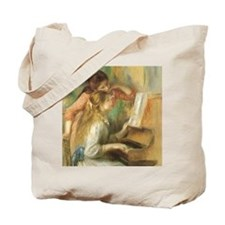 Young Girls at the Piano by Renoir Tote Bag
