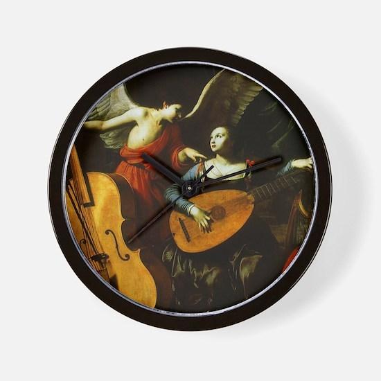 Saint Cecilia and the Angel by Saraceni Wall Clock