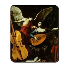Saint Cecilia and the Angel by Saraceni Mousepad