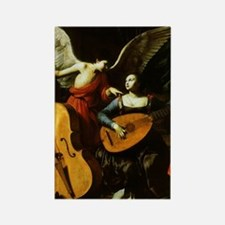 Saint Cecilia and the Angel by Sa Rectangle Magnet