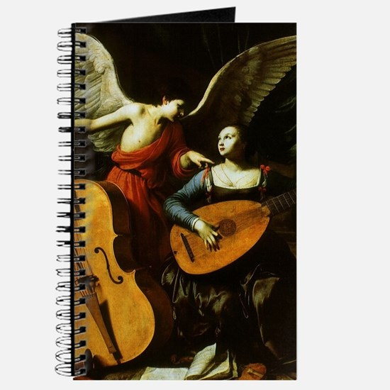 Saint Cecilia and the Angel by Saraceni Journal